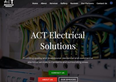 Screenshot of ACT Electrical Solutions Website